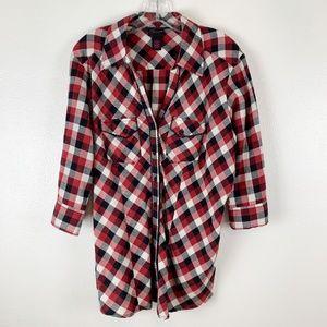 Torrid soft red plaid flannel shirt 1